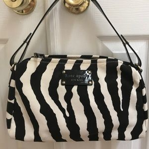 Kate Spade black and white bag NWT zebra print